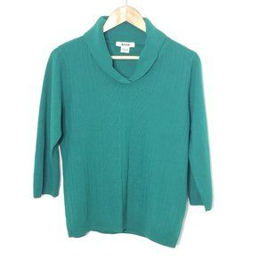 Alia | Green 3/4 Sleeve Knit Sweater Top Medium